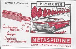 BUVARD  PHARMACIE METASPIRINE AUTOMOBILE PLYMOUTH - Chemist's