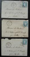 Réalmont Tarn Gc 3090 1873 Lot De 3 Lettres Avec Correspondance Pour E. Bonhomme La Tâcherie, Saint Bauzély Par Millau - Storia Postale