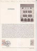 = Cité Médiévale De Cordes Tarn Collection Historique Du Timbre Poste 1er Jour Cordes 5.4.80 N°2081 Cordes Sur Ciel 1993 - Documents Of Postal Services