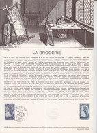 = La Broderie, Collection Historique Du Timbre Poste 1er Jour Paris 29.3.80 N°2079 D'après Une Oeuvre De Toffoli - Documents Of Postal Services