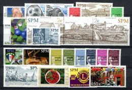RC 16426 ST PIERRE ET MIQUELON COTE 71,80€ - 2003 ANNÉE COMPLETE SOIT 22 TIMBRES N° 788 / 809 NEUF ** MNH TB - Unused Stamps