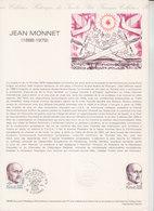 = Jean Monnet, Homme Politique, Collection Historique Du Timbre Poste 1er Jour Cognac 15.3.80 N°2096 Portrait - Documents Of Postal Services