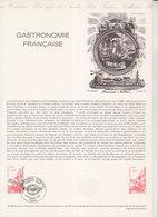 = Gastronomie Française, Collection Historique Du Timbre Poste 1er Jour Paris 23.2.80 N°2077 - Documents Of Postal Services