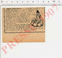 Presse 1907 Recette De Cuisine Gâteau St-Hélène Biscuit De Savoie Humour Napoléon Sur île Sainte-Hélène Histoire 229K - Vieux Papiers