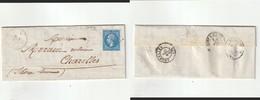 1865 N°22 Ob Litéré GC  2633 Neuilly Le Real (Allier) Sur LAC (lot 242) - 1862 Napoléon III