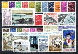RC 16430 ST PIERRE ET MIQUELON COTE 101,10€ - 2005 ANNÉE COMPLETE SOIT 31 TIMBRES N° 829 / 859 NEUF ** MNH TB - Unused Stamps