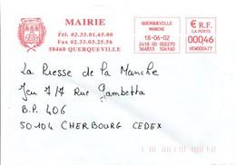 Mairie De Querqueville 2002 - 3 Abeilles Dans Le Blason - France Manche - Honeybees