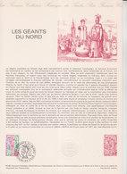 = Les Géants Du Nord, Collection Historique Du Timbre Poste 1er Jour Douai Et Lille 16.2.80 N°2076 - Documents Of Postal Services