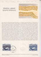 = Raoul Ubac, Oeuvre Originale, Collection Historique Du Timbre Poste 1er Jour Paris 2.2.80 N°2075 - Documents Of Postal Services