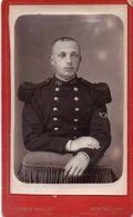 Photo CDV Portrait De Militaire Photographie Alfred Vuilley Montbelliard 1890 - Guerre, Militaire