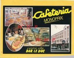 CPSM  - BAR LE DUC  (Meuse) - Cafétéria MONOPRIX  Centre Ville - Pizza  Grill  - - Bar Le Duc