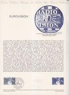= Eurovision, Collection Historique Du Timbre Poste 1er Jour Paris 12.1.80 N°2073, Satellite Autour De La Terre - Documents Of Postal Services