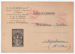 EMA - STRASBOURG / 1949  LIVRE - EDITION SUR LETTRE (ref 2123i) - Marcophilie (Lettres)