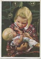 Mädchen Mit Puppe - Weihnachten - AK Grossformat - Farbfoto-Fritz Teuscher - Wächter Verlag Teplitz-Schönau (Sudetengau) - Retratos