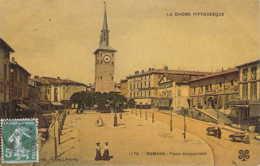 26 DROME La Place Jacquemart De ROMANS Cliché Artige Colorisé Aspect Glacé - Romans Sur Isere