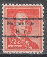 USA Precancel Vorausentwertung Preo, Locals New York, Margaretville 809 - Vereinigte Staaten