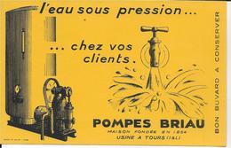 BUVARD   POMPES BRIAU TOURS INDRE ET LOIRE - Buvards, Protège-cahiers Illustrés