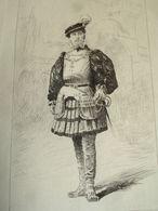 COMÉDIENS & COMÉDIENNES XIXe / EAU FORTE / Hippolyte Worms - Lithographies