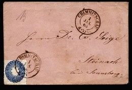 A6668) Kleines Briefchen Von AD Sachsen Crimmitschau 01.01.66 N. Steinach - Sachsen