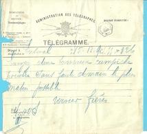 Telegramme Met Zeshoekige Stempel NESSONVAUX-FRAIPONT - Stamped Stationery