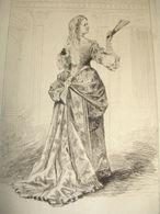 COMÉDIENS & COMÉDIENNES XIXe / EAU FORTE / Mme Arnould-Plessy - Lithographies