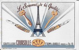 BUVARD   COUTELLERIE COURSOLLE ST REMY S DUROLLE PUY DE DOME - Buvards, Protège-cahiers Illustrés