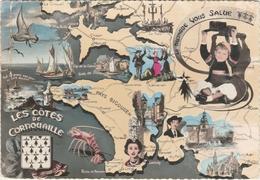 LA BRETAGNE  - LA BRETAGNE VOUS SALUE - LES CÔTES DE CORNOUAILLE  -   Editeur : JEAN De Audierne  N° 10015 - Bretagne