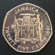 JAMAIQUE - JAMAICA - 25 CENTS 1991 - Marcus Garvey - KM 147 - Jamaique