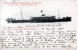 """BATEAUX - Navigazione Générale Italiana - Dal Bordo Del Piroscafa """"Roamnia"""" - Passagiersschepen"""