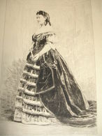 COMÉDIENS & COMÉDIENNES XIXe / EAU FORTE / Madeleine Brohan - Lithographies