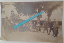 1914 1915 Hopital De Convalescence Partie De Boules Petanque Zouves Tranchée Poilu Ww1 1914 Carte Photo - Guerre, Militaire