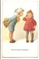 K 1594  OLD  FANTASY POSTCARD  , CHILDREN , FINE ART ,GREETINGS - Sin Clasificación