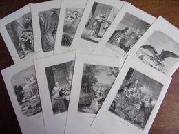 Bon Lot De 10 Gravures Contes Pour Enfants. Staal, Pizzatta, Etc ..1860 - Lithographies