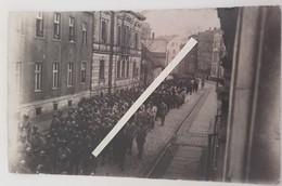 1919 Rhur Sarre Rhénanie Occupation Des Alliés Troupes Françaises Italiennes Défilé Tranchée Poilu Ww1 1914 2cartes Phot - Guerre, Militaire