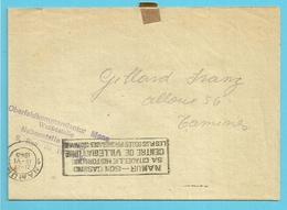 Brief Stempel NAMUR Met Stempel OBERFELDKOMMANDANTUR MONS WERBESTELLE - Guerre 40-45