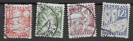 1930 USED  Nederland, Pays-Bas, NVPH R86-89 Roltanding - Periode 1891-1948 (Wilhelmina)
