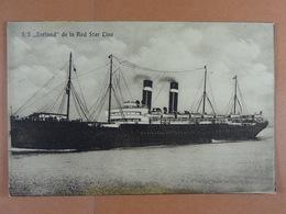 S.S. Zeeland De La Red Star Line - Paquebote