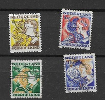1932 USED  Nederland, Pays-Bas, NVPH R94-97 Roltanding - Periode 1891-1948 (Wilhelmina)