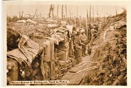 Rare Petite Photo 5.5 X 8 Cm Tranchée De Première Ligne Four De Paris - 1914-18