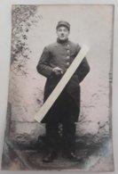 1914 Chasseur à Pieds 18 Eme Bataillon Amiens Fontenay Le Comte Poilu Tranchée Ww1 1914 Carte Photo - Guerre, Militaire