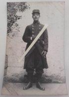 1914 Chasseur à Pieds 26 Eme Bataillon Vincennes Poilu Tranchée Ww1 1914 Carte Photo - Guerre, Militaire