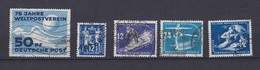 DDR - 1949/50 - Michel Nr. 242/43+246+47+273 - Gest. - 86 Euro - DDR