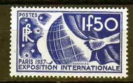 Timbres De France N°327 De 1936 Exposition Internationnale De Paris Neuf** - Ongebruikt