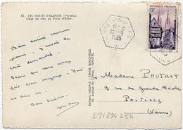 France Vendée Brétignolles Cachet F7 Du 10/09/1955 Sur N° 979 Y. Et T. - Manual Postmarks