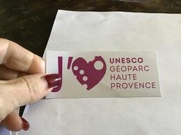 Autocollant J'aime L'Unesco Geoparc Haute Provence - Autocollants