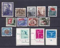 DDR - 1951/61 - Michel Nr. 288+344+346/47+349+351+353+385+396/97+830/32 - Gest. - 95 Euro - DDR