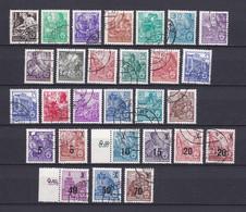 DDR - 1955/57 - Freimarken : Fünfjahrplan - Sammlung - Gest. - DDR