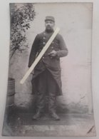 1914 Chasseur à Pieds Alpins 22 Eme Bataillon Albertville  Poilu Tranchée Ww1 1914 Carte Photo - Guerre, Militaire