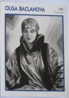 Olga BACLANOVA (1930) - Fiche Portrait Star Cinéma - Filmographie - Photo Collection Edito Service - Fotos