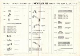 Brochure Märklin Normal & Spezialteile Metall & Elex Baukasten 1967 - Meccano